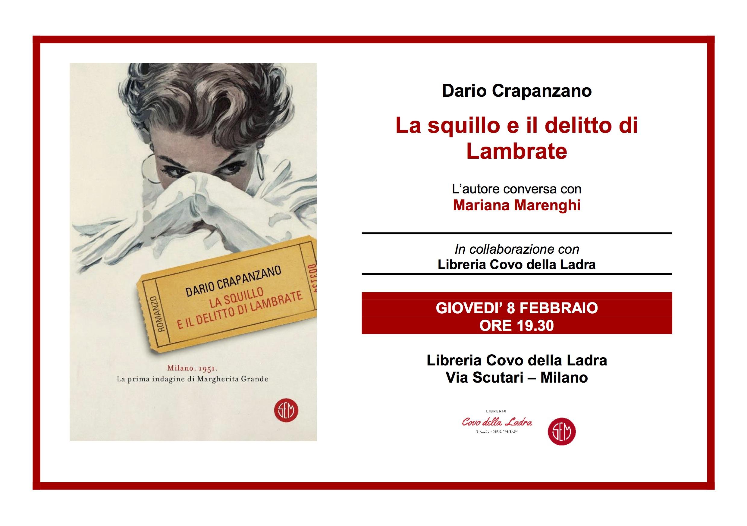 Dario Crapanzano presenta La Squillo e il delitto di Lambrate