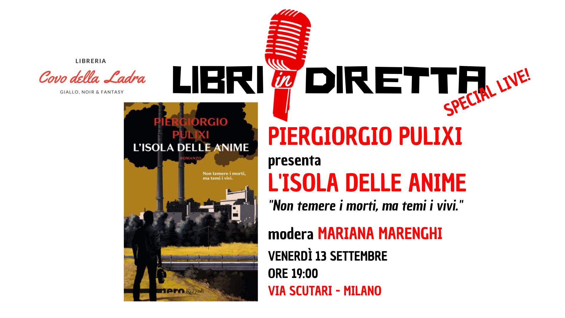 Libri in diretta con Piergiorgio Pulixi