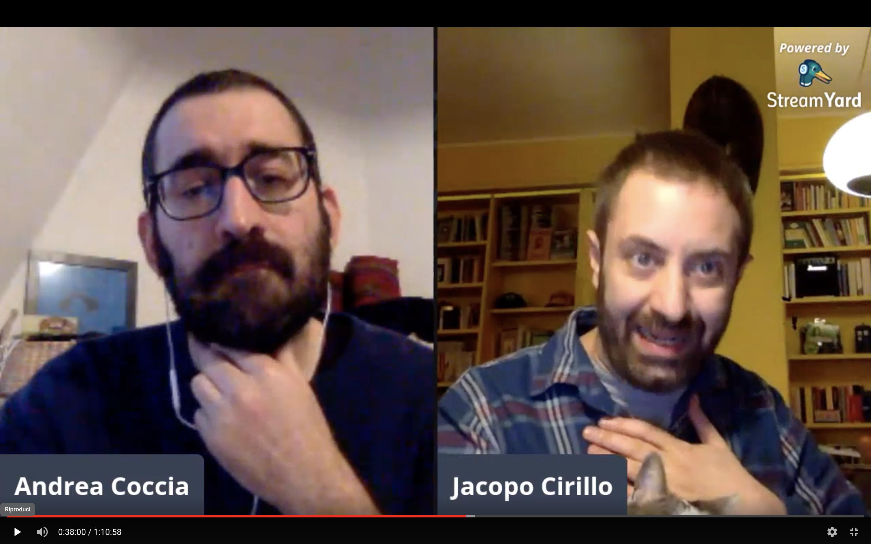 """#direttaaperta con Andrea Coccia e Jacopo Cirillo per """"Contro l'automobile"""" – Eris Edizioni"""
